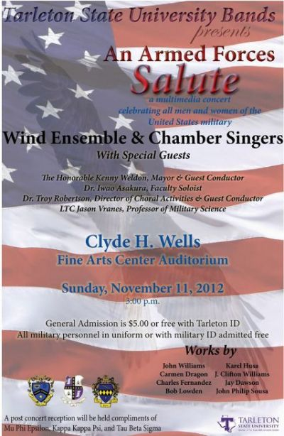 Wind Ensemble Military Salute