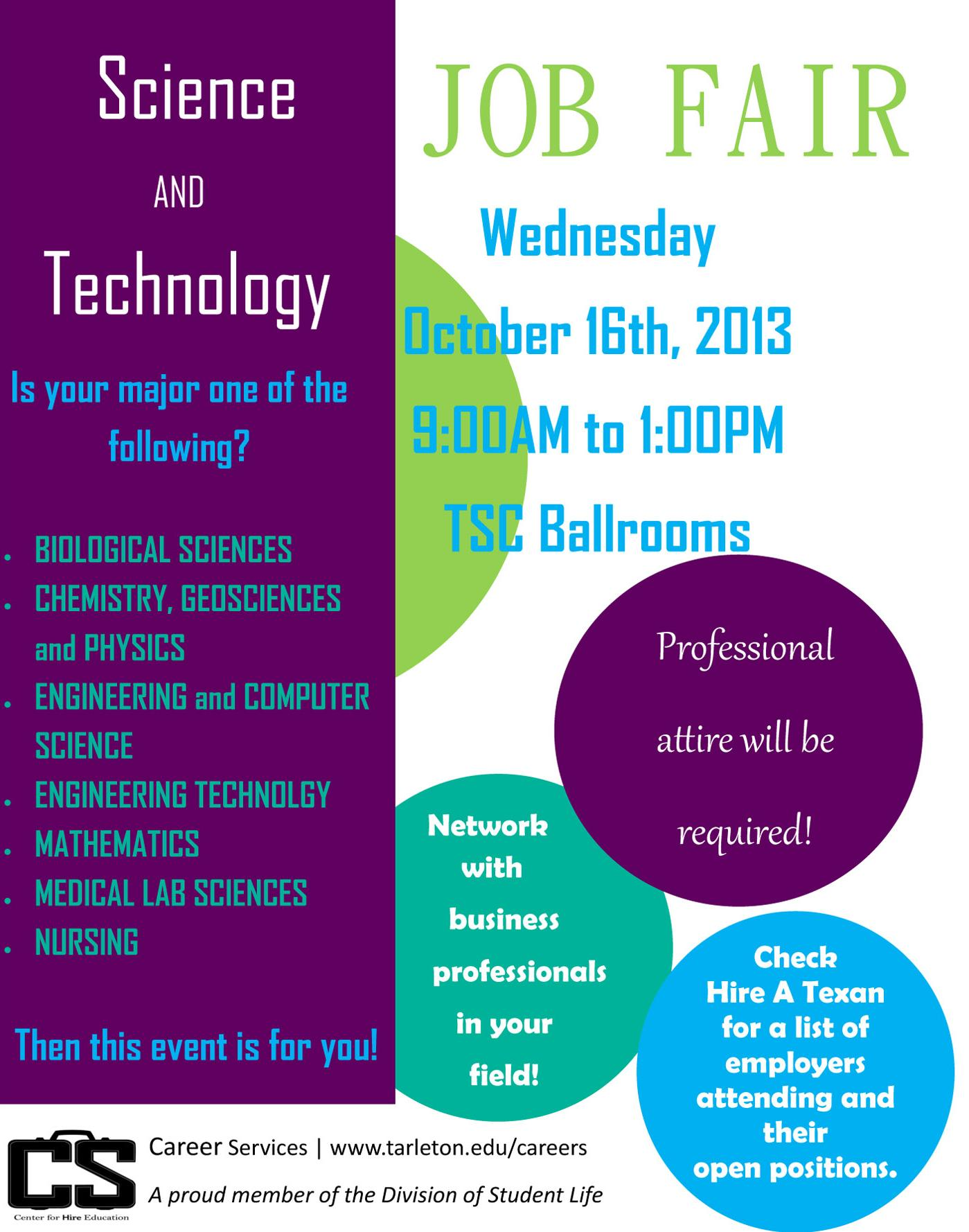 Science & Technology Job Fair