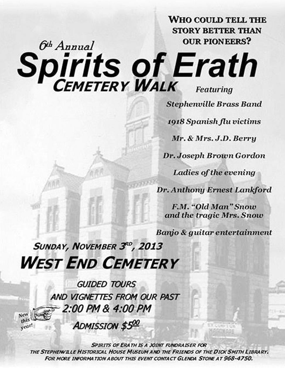 6th Annual Spirits of Erath County Cemetery Walk
